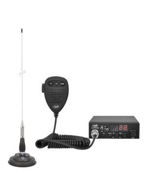 CB PNI ESCORT HP 8000L ASQ Radio Station Kit + CB PNI ML100 Antena